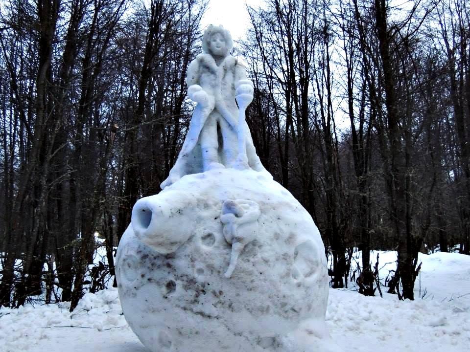 escultura nieve
