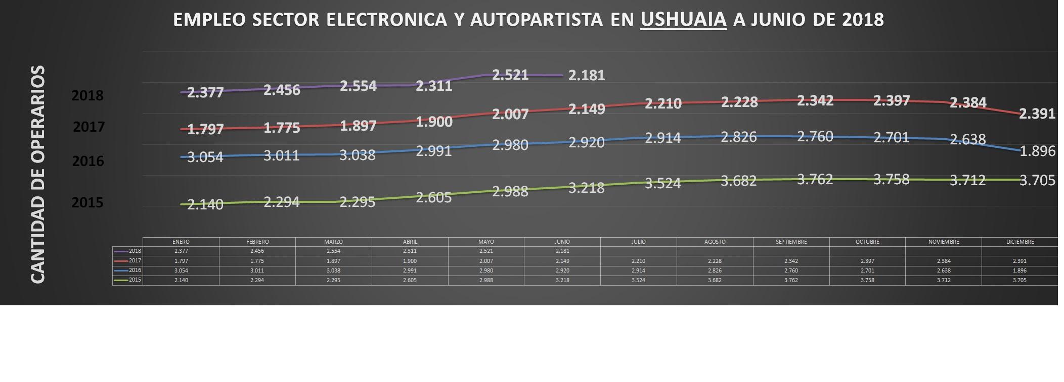 Empleo Electronica y Autopartes Ushuaia a junio 2018