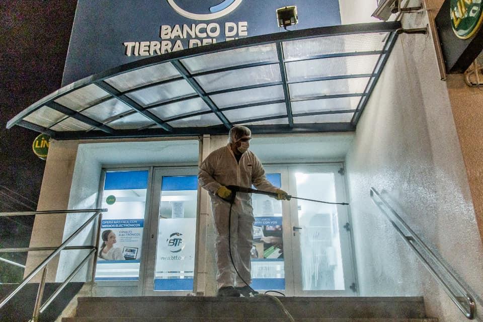 desinfecta banco